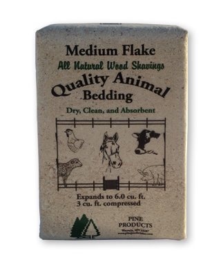 medium flake bagged shavings